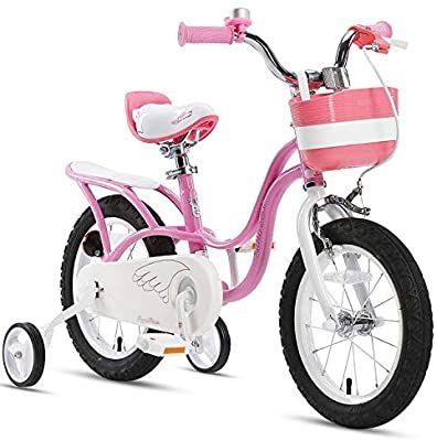 Amazon Com Royalbaby Girl S Bike Little Swan 16 Inch Kids Bike With Training Wheels Kickstand Basket Girls C In 2020 Bike With Training Wheels Kids Bicycle Kids Bike