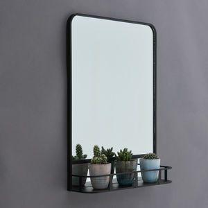 Arthur Black Mirror With Shelf Mirrors Black Bathroom Mirrors