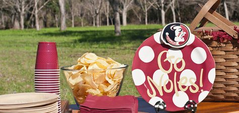 Florida State University Collegiate Celebrations Platter with Logo Mini Attachment | Coton Colors