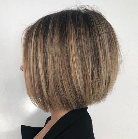 Neat One-Length Bob for Straight Hair