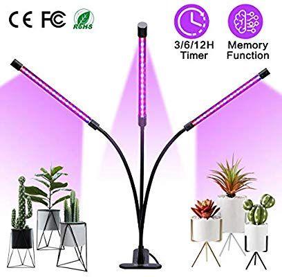 Amazon Com Amconsure Grow Light 30w Led Grow Lamp Bulbs Plant Lights Full Spectrum Auto On Off With 3 6 Led Grow Light Bulbs Led Grow Lights Grow Lights