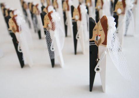 Segnaposto Matrimonio Mollette.Table Setting Clothespin Sale Wedding Table Decor Wood By Arcina