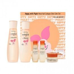 Etude House Happy With Piglet Moistfull Collagen Skin Care Set Collagen Skin Care Skincare Set Moistfull Collagen