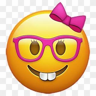 Emoji Emojis Emojisticker Nerd Girlnerdemoji Sticker Emoji Nerd Girl Png Transparent Png Funny Emoji Faces Emoji Emoticon
