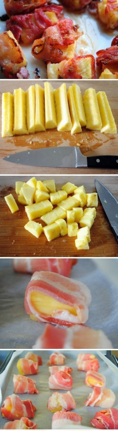 Oven Baked Pineapple Bacon!!  Oh Boy This is Yummy!!  A Burst of Flavour in Your Mouth!!