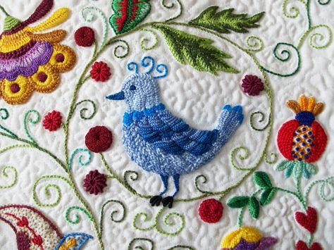 jacobean style bird