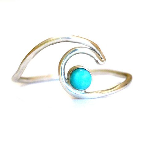 ROXY- Turquoise Wave Ring