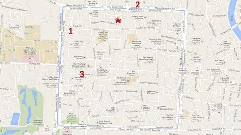 Mapa De Chiang Mai.Mapa De Mis Restaurantes Favoritos En Chiang Mai Tailandia