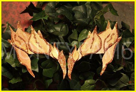 Poison Ivy METALLIC Earth LEAF EYEBROW Costume Mask Uma Thurman Elf Kim Cosplay Comic Con Costume