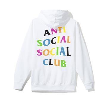 Anti Social Social Club Rainbow Hoodie White Multi Anti Social Social Club Hoodie Anti Social Social Club Anti Social