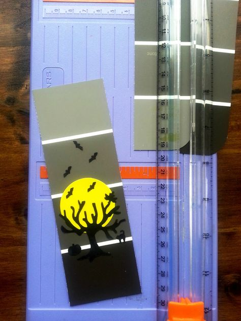 Castellon's Kitchen: Paint Chip Bookmarks