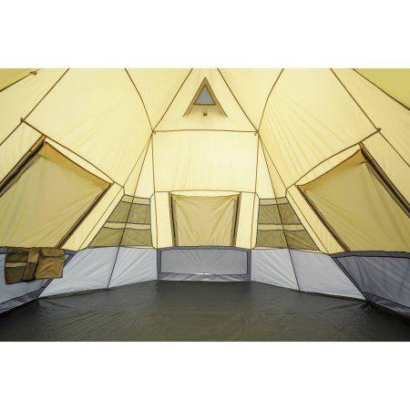 new styles 49efe 09586 Ozark Trail 12' x 12' Instant Tepee Tent, Sleeps 7 | Brain ...
