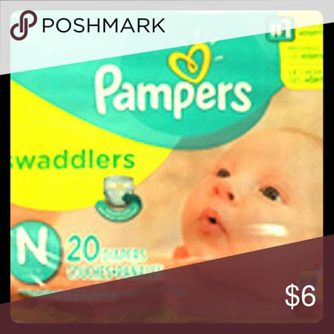 20 Count Newborn Up to 10 lbs. Pampers Swaddlers Diapers
