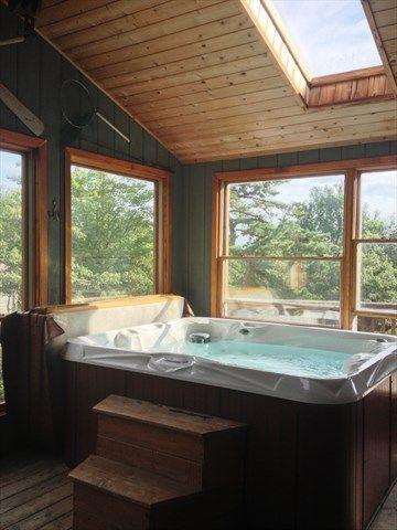 Indoor Hot Tub Rooms Areas With 2 Loft Sleeper And 6 Bedrooms Dedicated Indoorhottub Hot Tub Room Indoor Hot Tub Hot Tub Deck