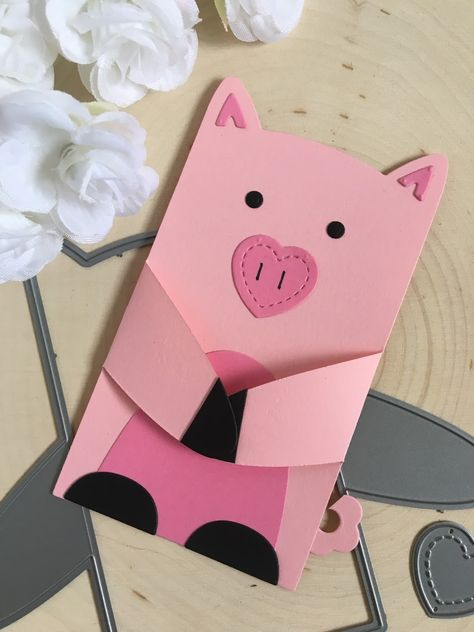 Make a Pig with Lawn Fawn Woodland Critter Huggers by Jess Crafts