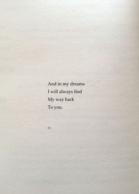In my dreams.
