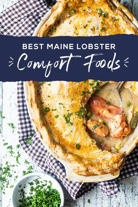 Many associate Maine Lobster with summertime, but it's essential to many of our favorite comfort food recipes when the weather cools down. Learn all our favorite ways to prepare lobster and get recipes to try year-round.   Lobster Dishes, Lobster Recipes, Fish Dishes, Lobster Food, Shellfish Recipes, Seafood Recipes, Cooking Recipes, Pasta, Seafood Dinner