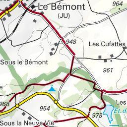 Karte Um Den Etang De La Gruere Wandern Bergwelten