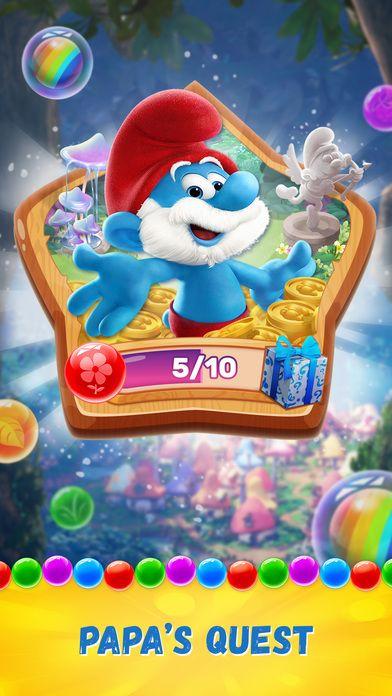 لعبة السنافر الشيقة Smurfs Bubble Story للأندرويد والأيفون نيوتك New Tech Smurfs 10 Things Bubbles
