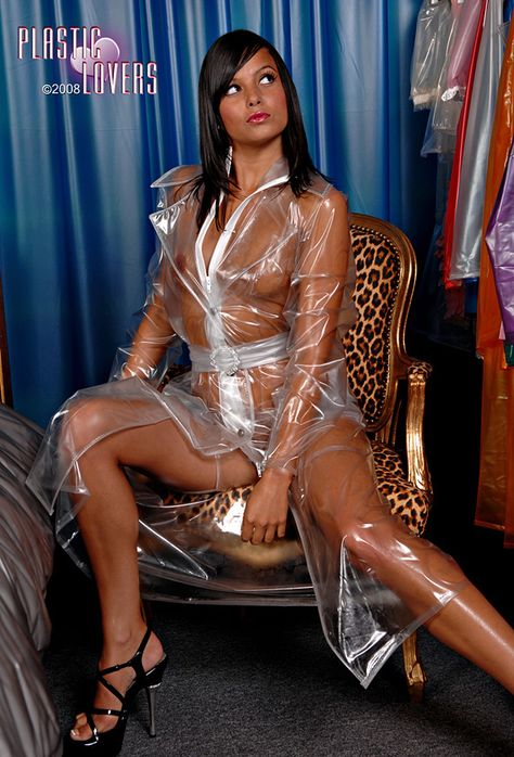 Plastic lovers   Raincoats for women, Rain wear, Raincoat