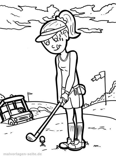 malvorlage golf  malvorlagen ausmalbilder und ausmalen
