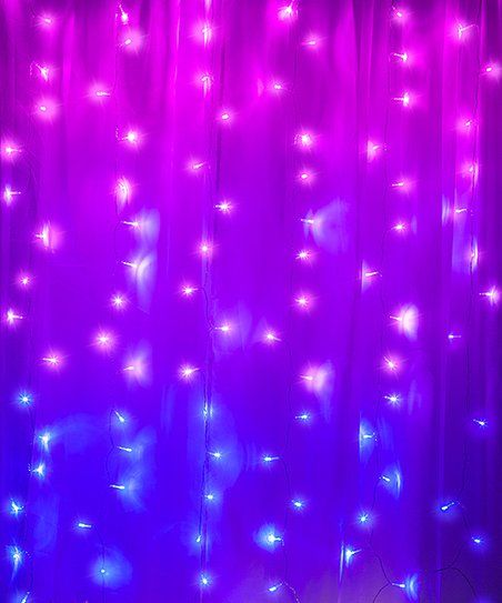 Merkury Innovations Purple Green Cascading Curtain Lights