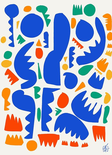 African Life Pattern Abstract Art Board Print