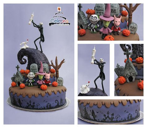 Nightmare Before Xmas Cake by The-Nonexistent on DeviantArt