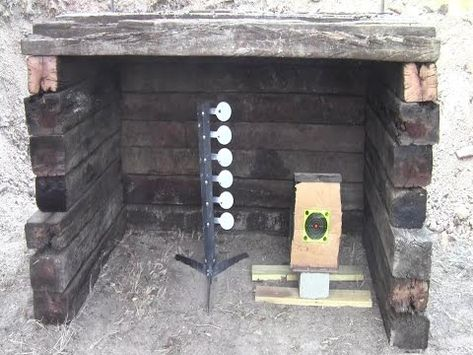 Build a Small Backyard Shooting Range Gun Shooting Range, Outdoor Shooting Range, Outdoor Range, Shooting Sports, Shooting Guns, Outdoor Areas, Shooting Practice, Shooting Targets, Archery Targets