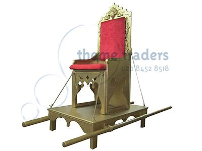 sedan chair rental wooden captains chairs uk throne litter props prop hire