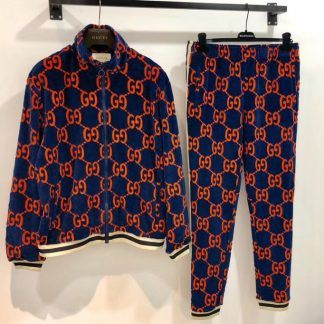 Men/'s Velour Zip Up Designer DS Full Tracksuit Hoodie Jogging Bottoms