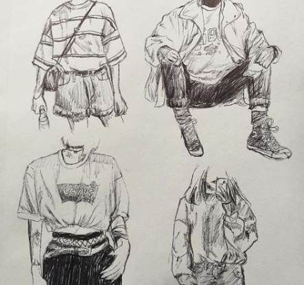 34 Trendy Drawing Tutorial Clothes Artists #drawing | Pencil