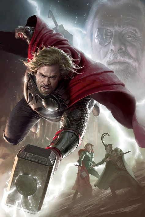Legends Thor Stan Lee SIGNED Marvel Giclee on Canvas Limited Edition of 195 Art by Randy Martinez