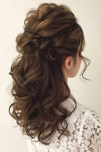 45 Half Up Half Down Wedding Hairstyles Ideas Hairstyles Ideas Wedding Cutehairstyle Soft Wedding Hair Hair Styles Wedding Hair Half