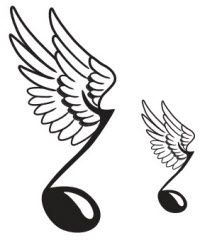 angel wings with music note displaying 19 gallery images for est rh pinterest com Music Notes Vector Art Free Single Music Notes