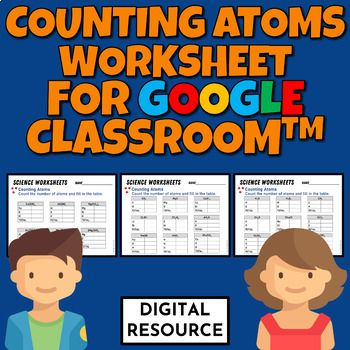 Counting Atoms Digital Worksheet For Google Classroom Google Classroom Digital Classroom Counting Atoms Counting atoms worksheet answers