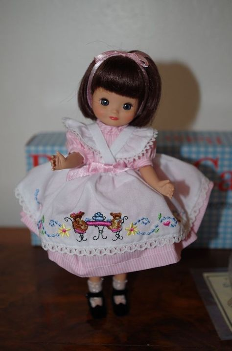 "Tiny Betsy McCall doll 8/"" Robert Tonner White Romper With Pink Flowers"