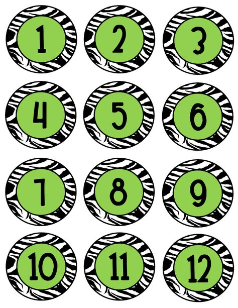 Free download...would be great for desk numbers!