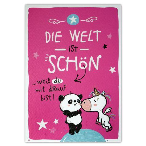 Hope & Gloria Postkarte »Welt« Die Welt ist schön... weil Du drauf bist!