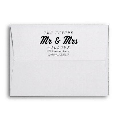 The Future Mrs And Mr 5x7 Preprinted Envelopes Zazzle Com