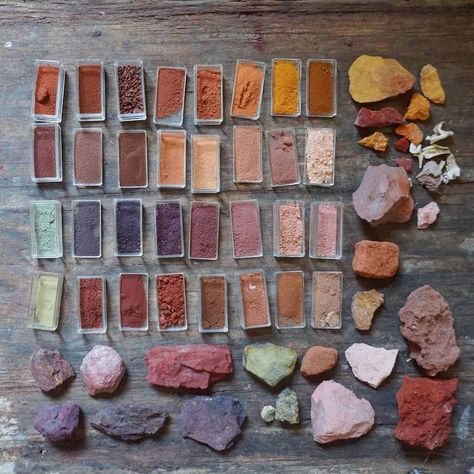 Pigment forager Heidi Gustafson is creating an ochre archive. Using exploration of the land and aided by other foragers, she is chronicling the material. Natural Dye Fabric, Natural Dyeing, Fresco, Impression Textile, Earth Pigments, Handmade Paint, Montezuma, Nature Crafts, Nature Paintings