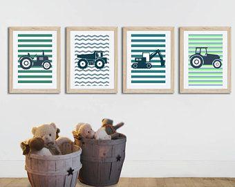 Affiche Enfant Affiche Tracteur Poster Ferme Decoration Chambre