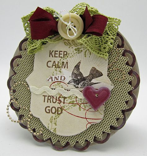 Keep Calm and Trust God card designed by Barb Schram using @JustRite Stampers new Just Keep Calm Stamp set.