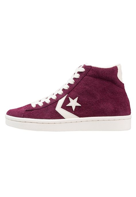 Converse PRO LEATHER 76 MID - Sneakers alte - dark sangria egret -  Zalando.it e2ea1a17c