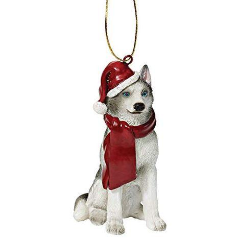 AMERICAN ESKIMO  DOG CHRISTMAS ORNAMENT HOLIDAY XMAS Figurine Scarf Pet