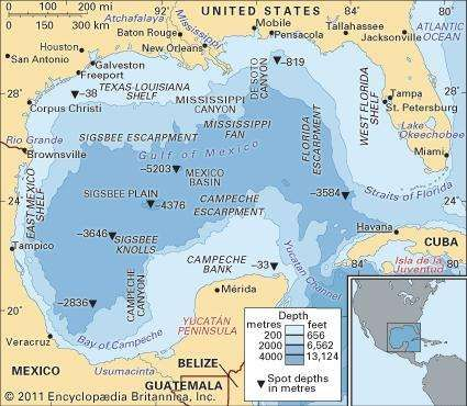 Image Result For Bathymetry Of The Gulf Of Mexico Off The West