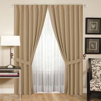 cortinas dobles juego de cortinas doble blackout textilvoile transparente a 800 - Ideas Cortinas