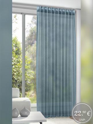 Gardinen Schlaufenschal Einfarbig Blau Mit Verdeckten Schlaufen Gardinen Outlet Haus Deko Transparente Gardinen Fertiggardinen