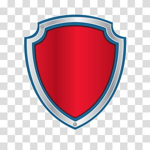 Red Blue And Grey Shield Illustration Logo Patrol Transparent Background Png Clipart Paw Patrol Badge Skye Paw Patrol Paw Birthday