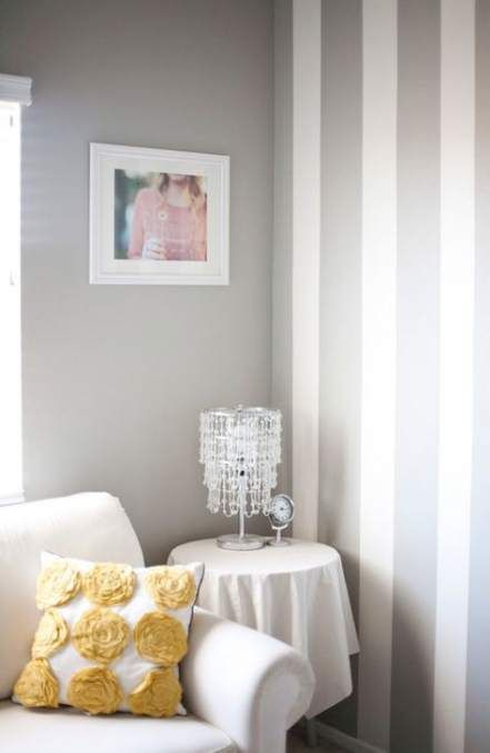 Wall Painting Stripes Vertical Half Baths 57 Ideas Painting